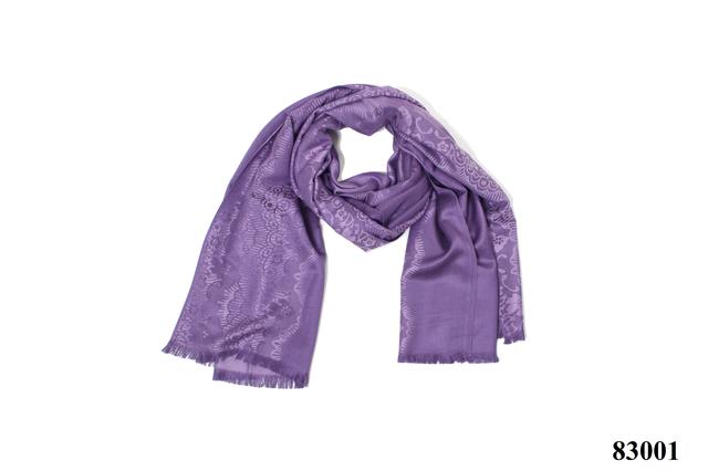 Палантин с узором пурпурный (83001) 3