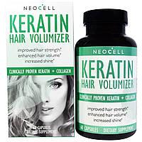 Кератиновый комплекс Neocell, Keratin Hair Volumizer, 250 мг, 60 капсул. Сделано в США.