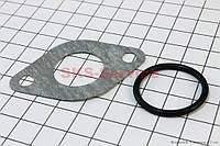 Прокладка патрубка карбюратора (паронит) + манжет