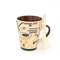 Глиняная чашка для кофе