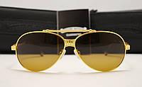 Мужские солнцезащитные очки Chrome Hearts mc 106 золото