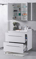 Комплект мебели для ванной Буль-Буль GOA 80 см белый