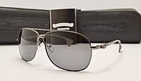 Мужские солнцезащитные очки Chrome Hearts mc ck темно серый цвет