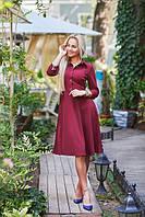 Женское платье с клешной юбкой, размеры с,м,л. Ткань креп-трикотаж