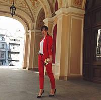 Женский брючный костюм, брюки и пиджак. Ткань мемори, отворот атлас. Размеры 42,44,46. В наличии 4 цвета