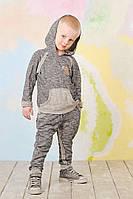 Детский спортивный костюм для мальчика темно-серый