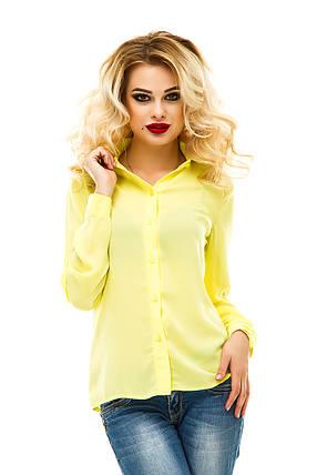 Блузка креп-шифон 219 желтая, фото 2