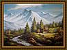 Картина Горная река 400х600 мм №385 в багетной рамке