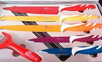 Комплект кухонных ножей с антибактериальным покрытием 5 шт Swiss & Boch. Овощечистка в наборе