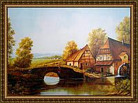Картина Мостик 400х600мм №330 в багетной рамке