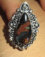 """Элегантное кольцо с петерситом """"Восток"""", размер 17,5 от Студии  www.LadyStyle.Biz"""