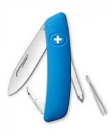Отличный перочинный нож, 4 предмета SWIZA D02 (201030), синий