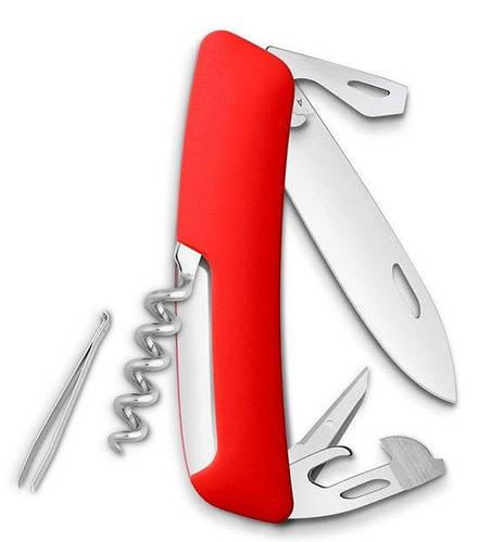 Удобный раскладной швейцарский нож, 11 функций SWIZA D03 (301000), красный