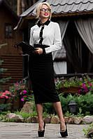 Классическая черная юбка карандаш 1839 42–48р., фото 1