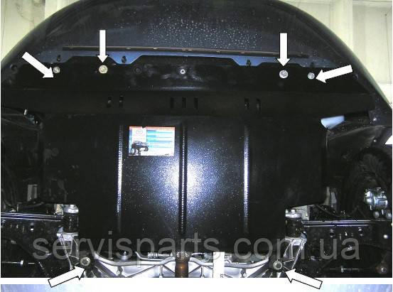 Защита двигателя Fiat Linea 2007-2016 (Фиат Линея)