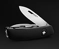 Настоящий швейцарский раскладной нож для мужчин, 11 функций SWIZA D04 (401010), черный