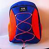 Спортивный рюкзак со шнурками UKsport, Укрспорт синий с оранжевым