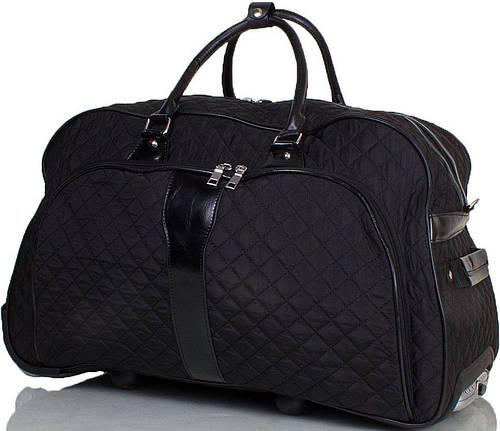 Удобная маленькая  дорожная сумка на 2-х колёсах ETERNO TU9089S-black черный