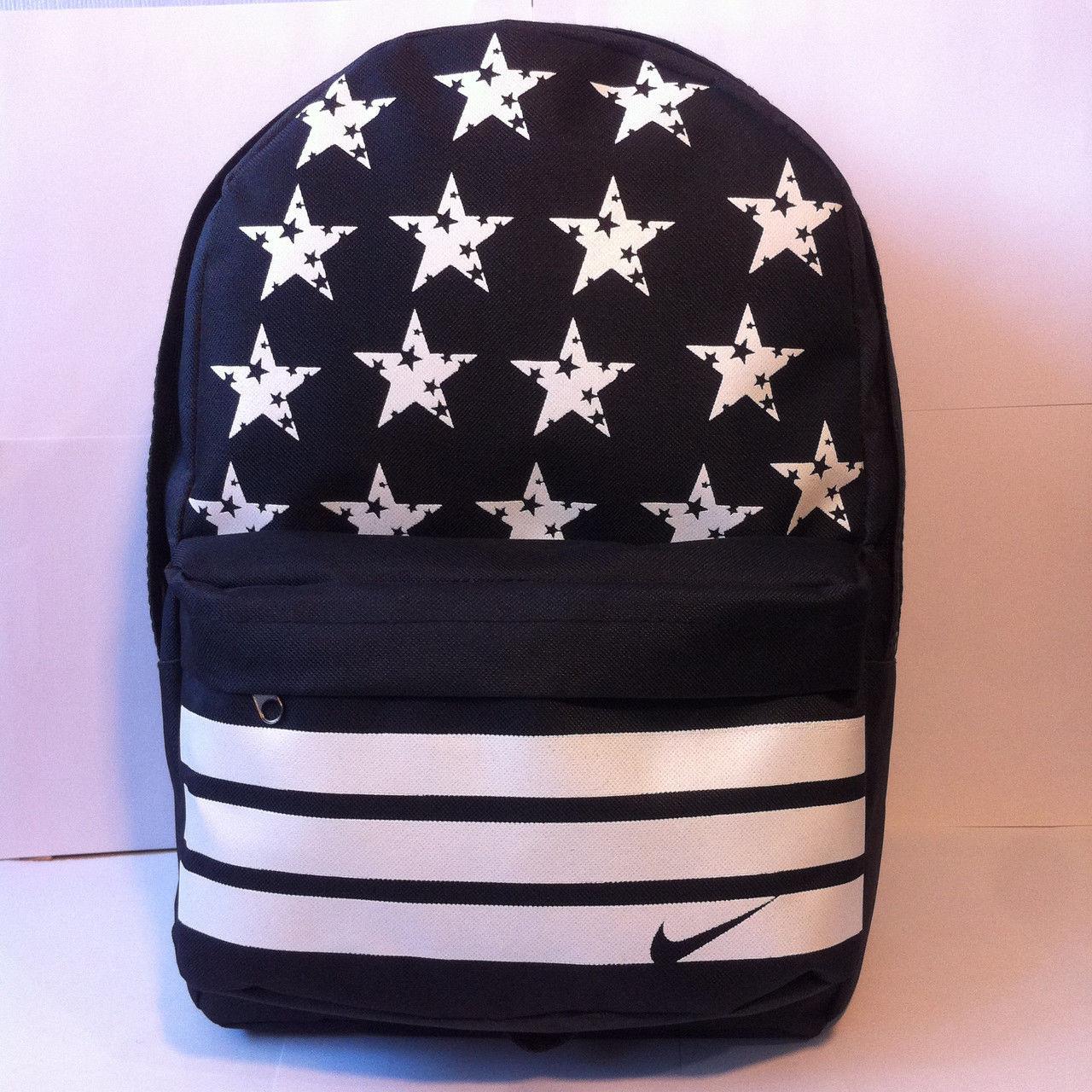 Рюкзак со звездами Nike, Найк черный с белым ( код: IBR032BO )