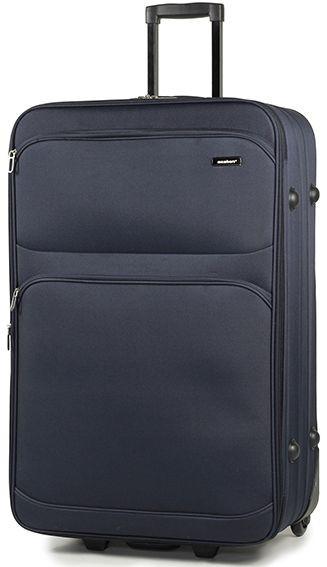 Качественый тканевый 2-х колесный чемодан 97 л. Members Topaz (L), 922640 синий