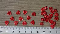 Розочка пришивная 0,8 см. Металлическая. Красная
