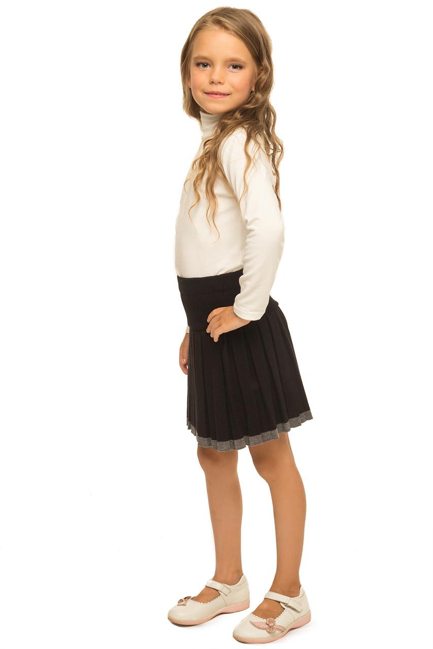 Вязаная школьная юбка на девочку