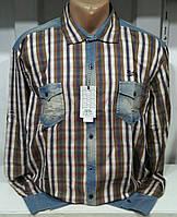 Мужская рубашка с джинсовыми карманами