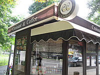 Навесы из ПВХ ткани для кофейни