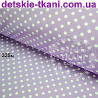 Ткань хлопковая Mist с горошком на сиреневом фоне ( № 335м)