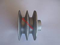 Шкив приводной двухручьевой на к/вал ф 25мм (диаметр 76мм)
