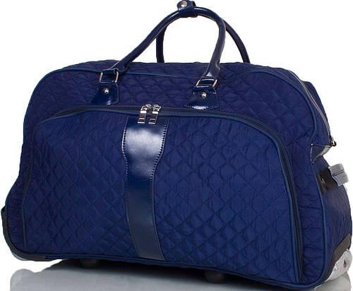 Красивая  большая дорожная сумка на 2-х колёсах ETERNO TU9089L-navy синий
