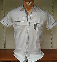 Детская рубашка школьная с карманом