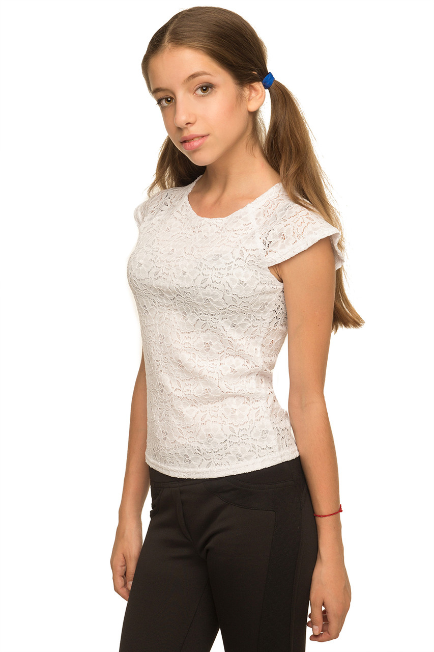 Белая блузка для девочек купить