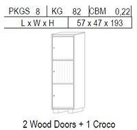 Вітрина 1-дверна: 2 дв дерево + 1 CROCO