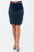 Красивая стильная юбка с поясом чёрного цвета