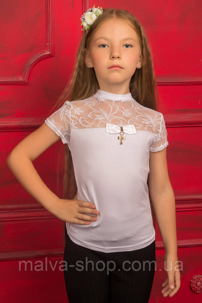 Блузки школьный для девочек купить