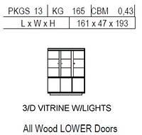 Витрина 3-дверная: 3 нижние двери дерево