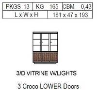 Витрина 3-дверная: 3 нижние двери CROCO