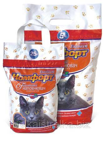 Наполнитель для кошачьего туалета Комфорт Эконом Лаванда 5 кг komf043