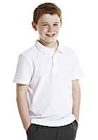 Школьные рубашки-поло белые короткий рукав для мальчиков 14-15-16 лет  George (Англия)