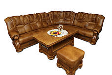 Кутовий диван в шкірі CHEVERNY (310см-250см), фото 3