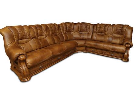 Кутовий диван в шкірі CHEVERNY (310см-250см), фото 2