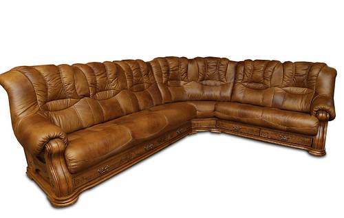 Угловой диван в коже CHEVERNY (310см-250см)