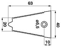 Сегмент противорежущий Claas (Rasspe)