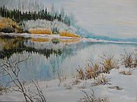 "Картина ""Река зимой"""