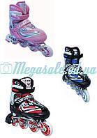 Ролики раздвижные с алюминиевой рамой Sport World, 3 цвета: 28-31,  31-34 размер,  PU колеса