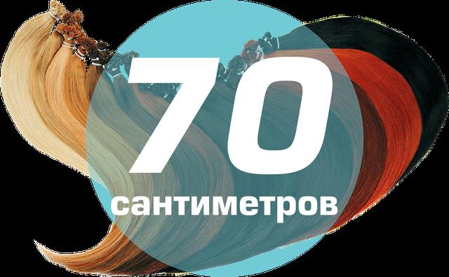 Славянские волосы на капсулах 70 см