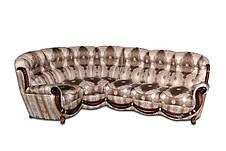 Кожаный диван Джозеф, раскладной диван, мягкий диван, мебель из кожи, диван, фото 3