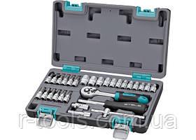 Набор инструментов 1/4 CrV пластиковый кейс 29 предм. STELS 14100
