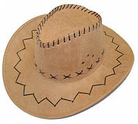 Шляпа ковбоя замшевая (cветло-бежевая) 040816-001